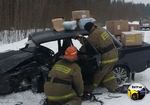 Авария на трассе Коноша – Вельск, столкнулись ВАЗ-2107 и Mitsubishi Outlander