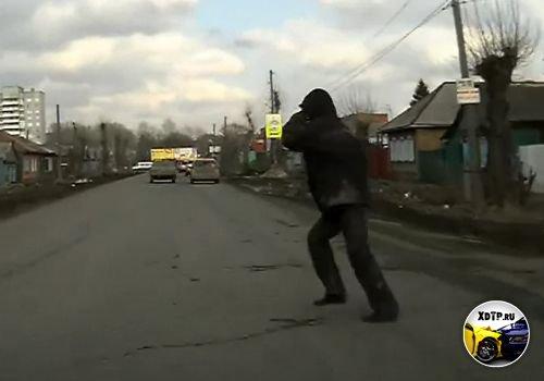 ДТП в Омске, сбил пьяного перебегавшего дорогу