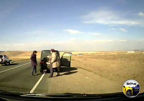 ДТП в Чите, автодорога М-55. Пьяный на ВАЗе