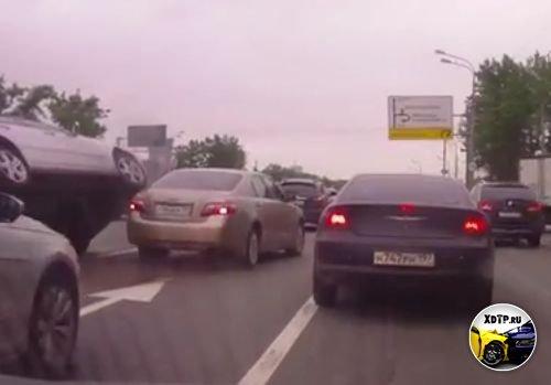ДТП на Кутузовском пр. в Москве.
