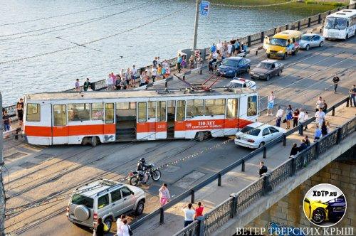 Дрифт трамвая в Твери