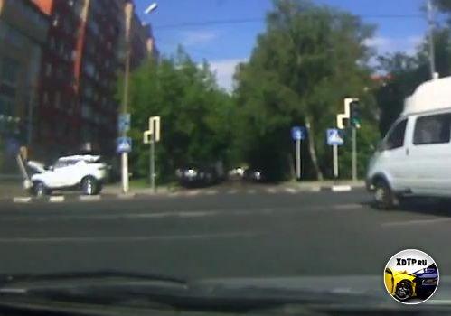 Авария в Долгопрудном, ул. Дирижабельная