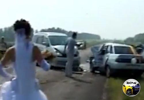 Авария свадебного кортежа, в Алтайском крае