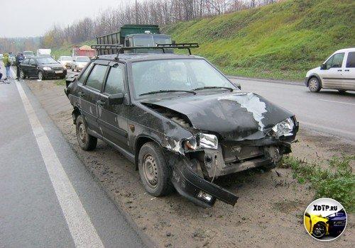 На окружной в Липецке столкнулись одиннадцать машин