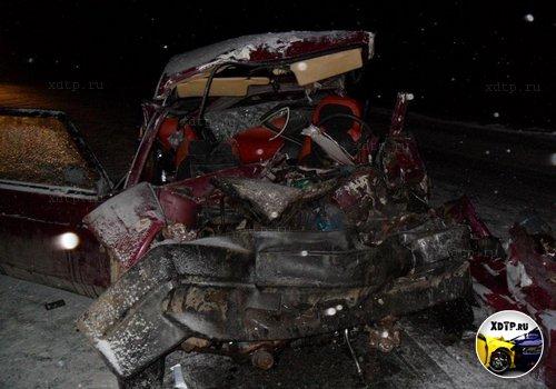 В Пермском крае очередное столкновение грузовика и легковушки