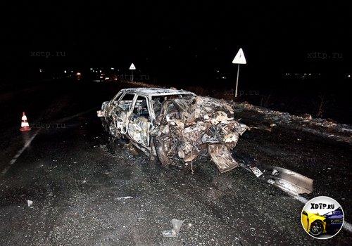 ДТП с возгоранием в Свердловской области