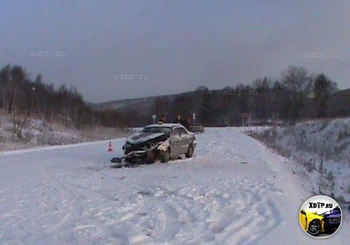 В Сахалинской области пострадал сам виновник аварии