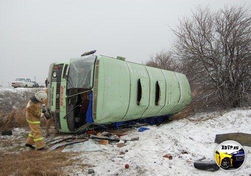 В Чувашии перевернулся пассажирский автобус