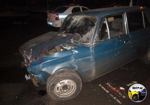 Daewoo Nexia и шестерка столкнулись в Москве