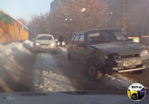 Авария в Люберцах на ул. Побратимов